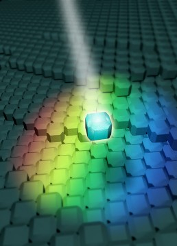 Self-assembling photonic materials useful for sensors