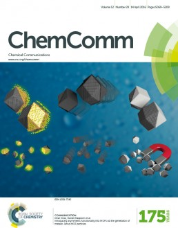 Cover for ChemComm April 2016