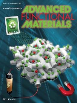 Cover for Advanced Functional Materials, Aug. 2016